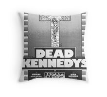 Old Dead Kennedys Flyer Throw Pillow