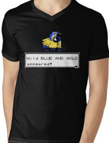 Blue and Gold Sprite Mens V-Neck T-Shirt