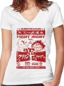 Fight Night Women's Fitted V-Neck T-Shirt