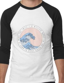 Wave Song Lyrics Men's Baseball ¾ T-Shirt