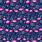 Bright pattern flamingos by Tanor