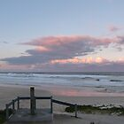 Sunset at Ballina Head Beach. N.S.W. Nth. Coast. Aust. by Rita Blom