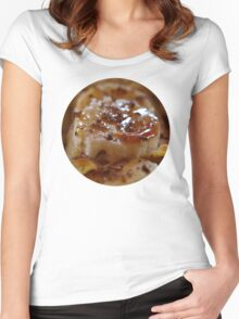 Pancake Dessert With Bananas, Caramel And Whipped Cream Women's Fitted Scoop T-Shirt