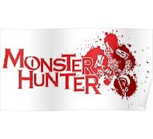 Monster Hunter Tri Crest Red Poster