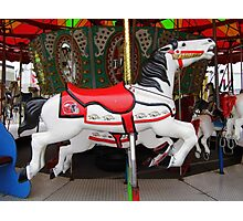 Razorback Carousel  Horse Photographic Print