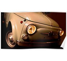 Old Fiat 500 Poster