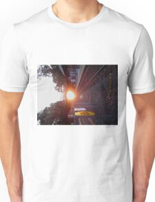 Sun Rise on the Tracks Unisex T-Shirt