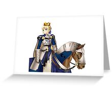 Arthuria Pendragon - Fate Stay/Night Saber   Greeting Card