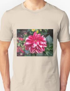 Pink White Tipped Flower Unisex T-Shirt