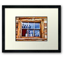 Broken Window Framed Print