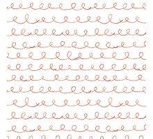 Pencil doodle waves Photographic Print