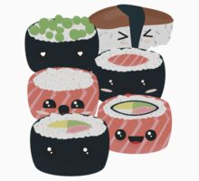 Set of funny Sushi rolls Kids Tee