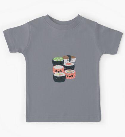 Set of funny Sushi rolls Kids Tee