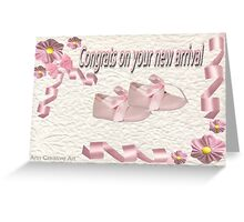 Card for birth of a baby girl Greeting Card