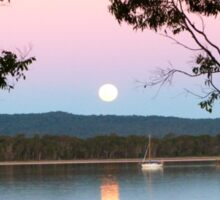 Framing the Super Moon! Tin Can Bay, Queensland. Sticker