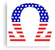 Chi Symbol American Flag Design Canvas Print