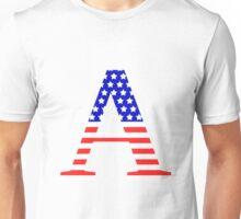 Alpha Symbol American Flag Design Unisex T-Shirt