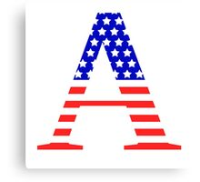 Alpha Symbol American Flag Design Canvas Print