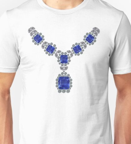 'Look at Me' Sapphire Necklace Unisex T-Shirt