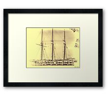 The Romance of The Sailing Ships Framed Print