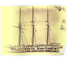 The Romance of The Sailing Ships Poster