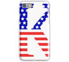 Kappa Symbol American Flag Design iPhone Case/Skin