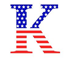 Kappa Symbol American Flag Design Photographic Print