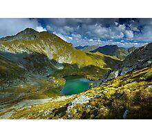Romanian Carpathians and glacial lake Capra Photographic Print