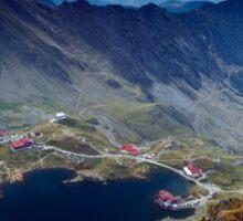 Aerial view of Balea Lake Sticker