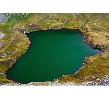 Glacial lake in the mountains Photographic Print