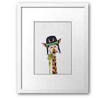 M.C. Giro Flow - The Coolest and the only Rapper on the coast of TaiLand Framed Print