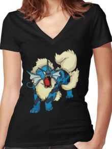 Gyarados/Arcanine Women's Fitted V-Neck T-Shirt