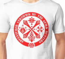 Certified By The Guild of Hunters RED Unisex T-Shirt