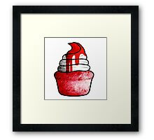 strawberry muffin with whipped cream Framed Print