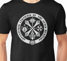Certified By The Guild of Hunters White Unisex T-Shirt