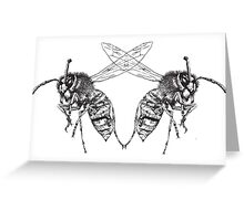 Wasp Symmetry Greeting Card