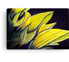 Perfect Pastels - Regal Birdflower Canvas Print