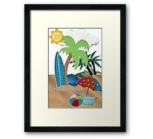 Enjoy your Summer Framed Print