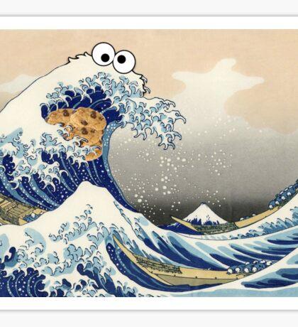 Cookie Monster Wave Sticker