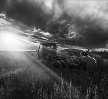 Prairie Drive-In - BW by Patrick Kavanagh