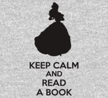 Keep Calm And Read A Book Kids Tee