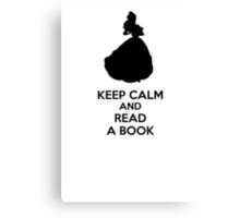 Keep Calm And Read A Book Canvas Print