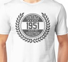 Vintage 1951 Aged To Perfection Unisex T-Shirt
