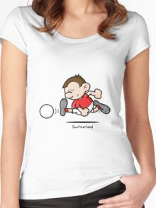 2014 World Cup - Switzerland Women's Fitted Scoop T-Shirt