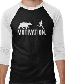MOTIVATION (Bear Chasing Runner) Men's Baseball ¾ T-Shirt