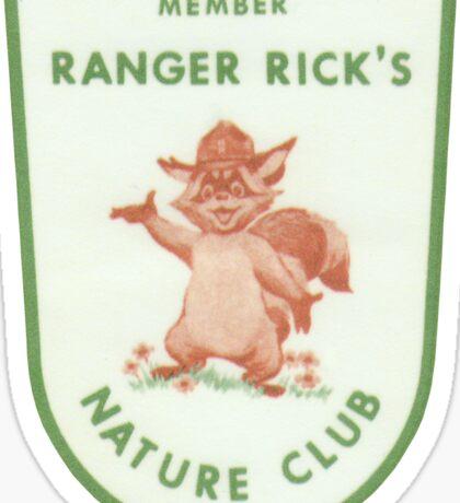 Ranger Rick's Nature Club Member Badge 2 Sticker