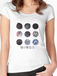 BTS- Wings Galaxy Women's Fitted Scoop T-Shirt