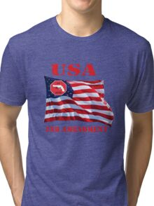 USA-We bear Arms- 2nd Amendment Tri-blend T-Shirt