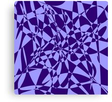 Purple & Blue abstract print Canvas Print
