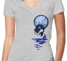 Mermaid Flip Women's Fitted V-Neck T-Shirt